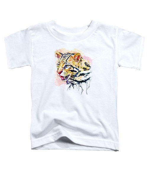 Ocelot Head Toddler T-Shirt by Marian Voicu