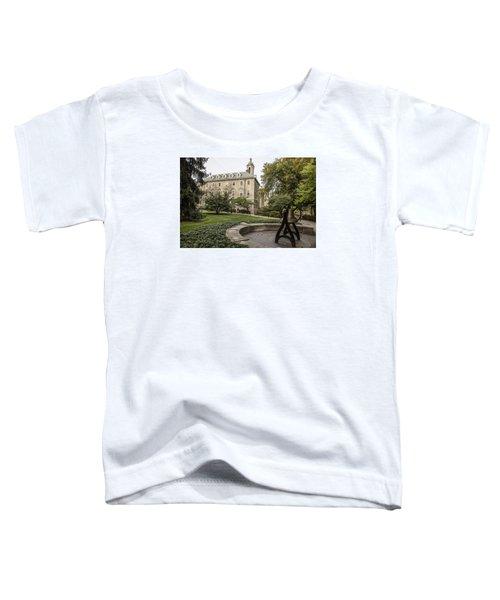 Old Main Penn State Bell  Toddler T-Shirt by John McGraw