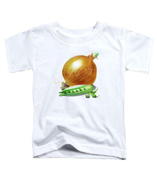 Onion And Peas Toddler T-Shirt by Irina Sztukowski