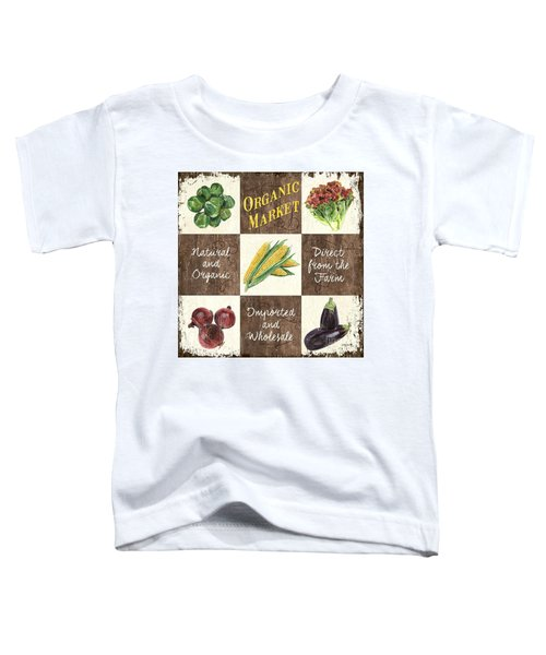 Organic Market Patch Toddler T-Shirt by Debbie DeWitt