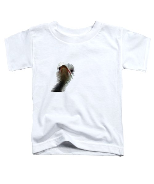 Ostrich Toddler T-Shirt by Priscilla Wolfe