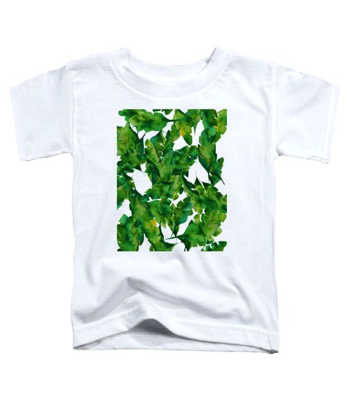 Overlapping Leaves Toddler T-Shirt by Cortney Herron