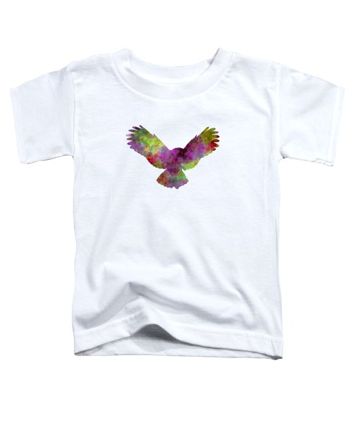 Owl 02 In Watercolor Toddler T-Shirt by Pablo Romero