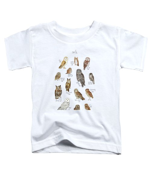Owls Toddler T-Shirt by Amy Hamilton