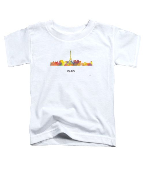 Paris France Skyline Toddler T-Shirt by Marlene Watson