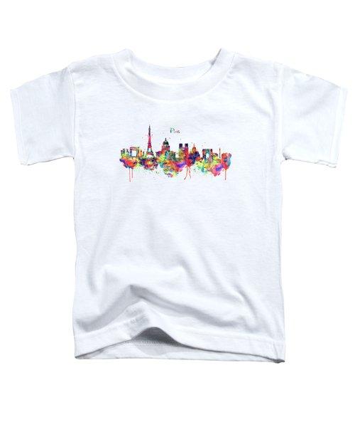 Paris Skyline 2 Toddler T-Shirt by Marian Voicu