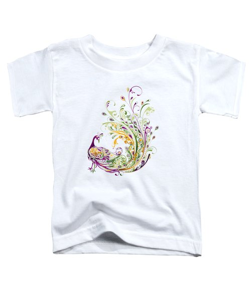 Peacock Toddler T-Shirt by BONB Creative