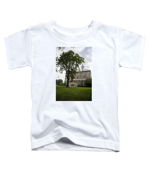 Penn State Old Main From Side  Toddler T-Shirt by John McGraw