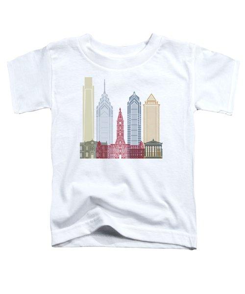 Philadelphia Skyline Poster Toddler T-Shirt by Pablo Romero