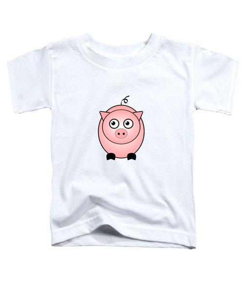 Piggy - Animals - Art For Kids Toddler T-Shirt by Anastasiya Malakhova