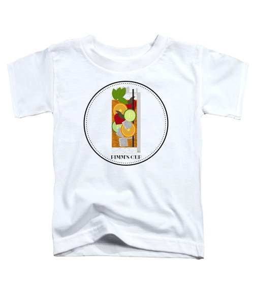 Pimm's Cup Cocktail In Art Deco  Toddler T-Shirt by Cecely Bloom