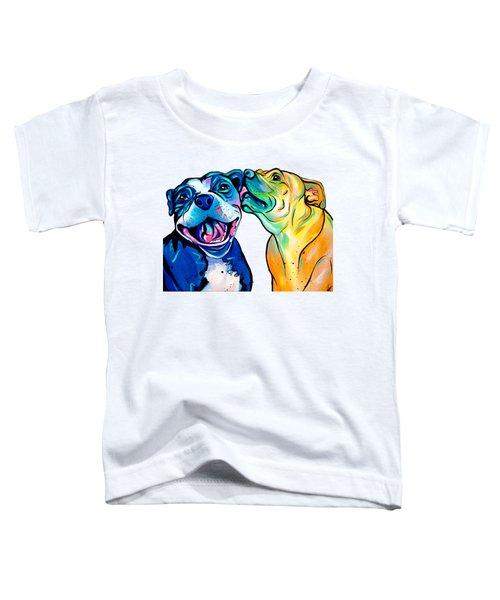 Pitbull Kisses Toddler T-Shirt by Abbi Kay