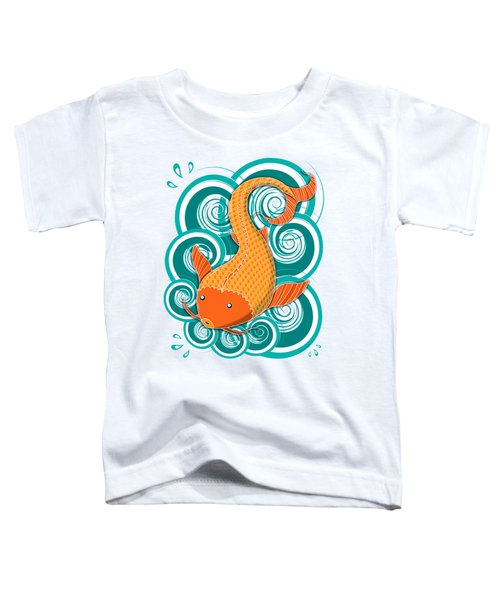 Playing Koi Toddler T-Shirt by Shawna Rowe