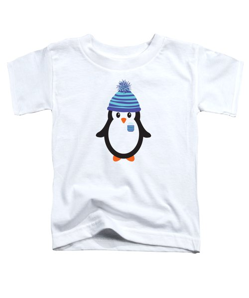 Pocket Snowflake The Penguin Toddler T-Shirt by Natalie Kinnear