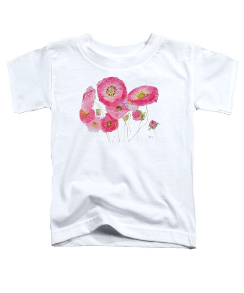 Poppy Painting On White Background Toddler T-Shirt by Jan Matson