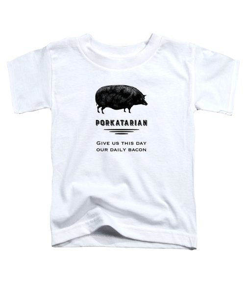 Porkatarian Bacon Lover Toddler T-Shirt by Antique Images