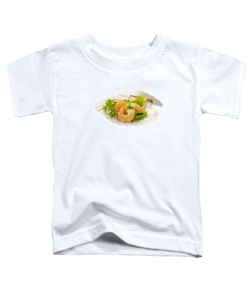 Prawn Appetizer Toddler T-Shirt by Amanda Elwell