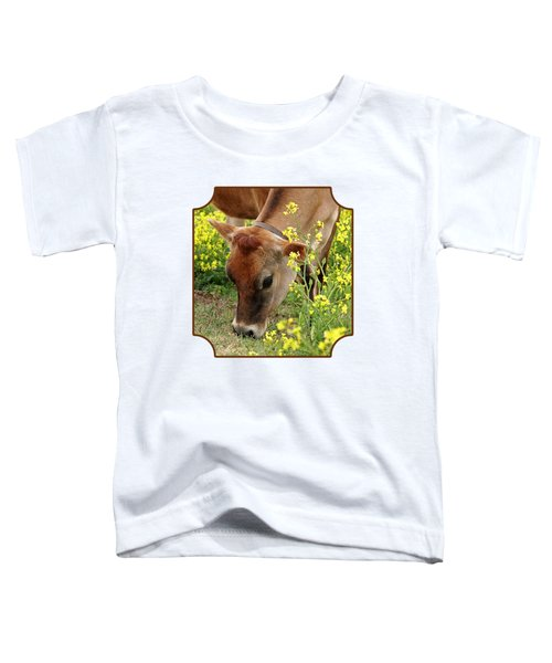 Pretty Jersey Cow Square Toddler T-Shirt by Gill Billington