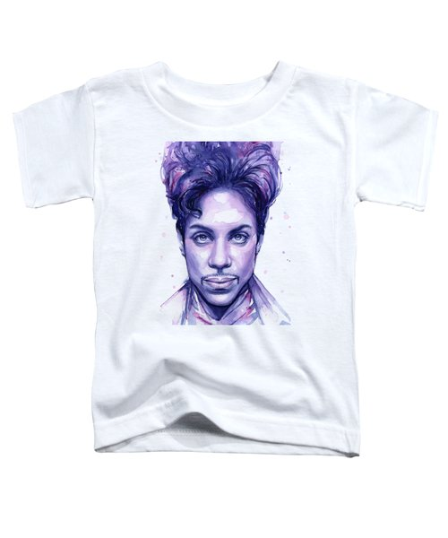 Prince Purple Watercolor Toddler T-Shirt by Olga Shvartsur