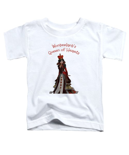 Queen Of Hearts Portrait Toddler T-Shirt by Methune Hively