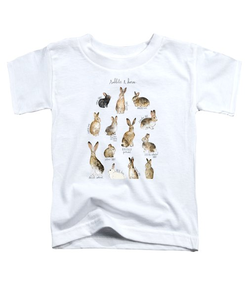 Rabbits And Hares Toddler T-Shirt by Amy Hamilton