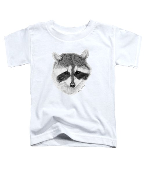 Raccoon Toddler T-Shirt by Rita Palmer