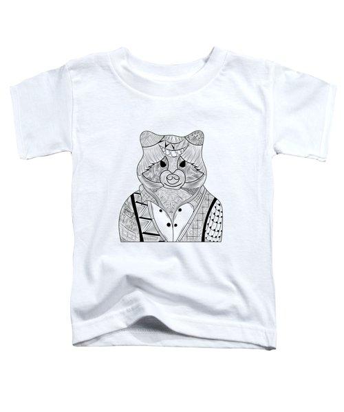 Raccoon Toddler T-Shirt by Serkes Panda