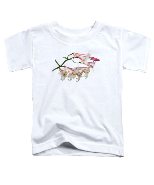 Radiant Lilies Toddler T-Shirt by Gill Billington