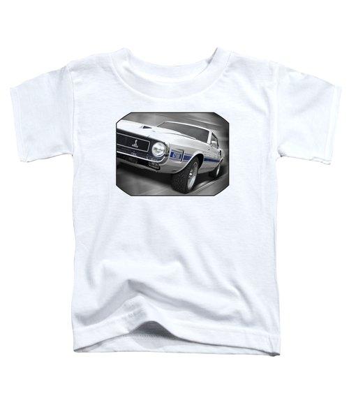 Rain Won't Spoil My Fun - 1969 Shelby Gt500 Mustang Toddler T-Shirt by Gill Billington