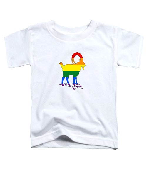 Rainbow Ibex Toddler T-Shirt by Mordax Furittus