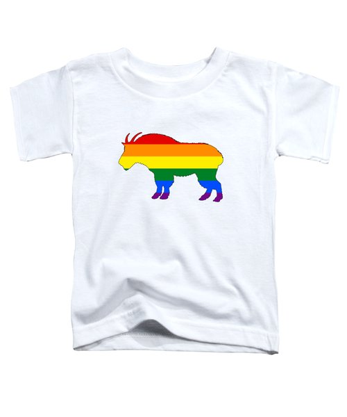Rainbow Mountain Goat Toddler T-Shirt by Mordax Furittus