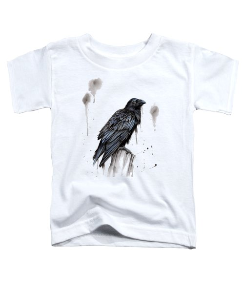 Raven  Toddler T-Shirt by Sarah Stribbling