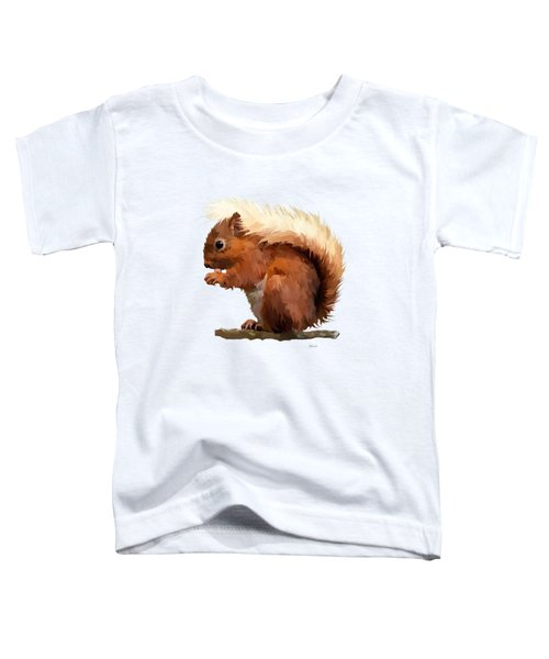 Red Squirrel Toddler T-Shirt by Bamalam  Photography