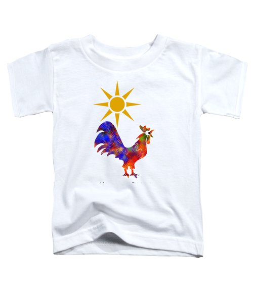 Rooster Pattern Art Toddler T-Shirt by Christina Rollo
