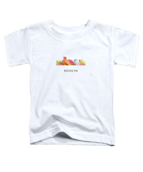 Rosslyn Virginia Skyline Toddler T-Shirt by Marlene Watson