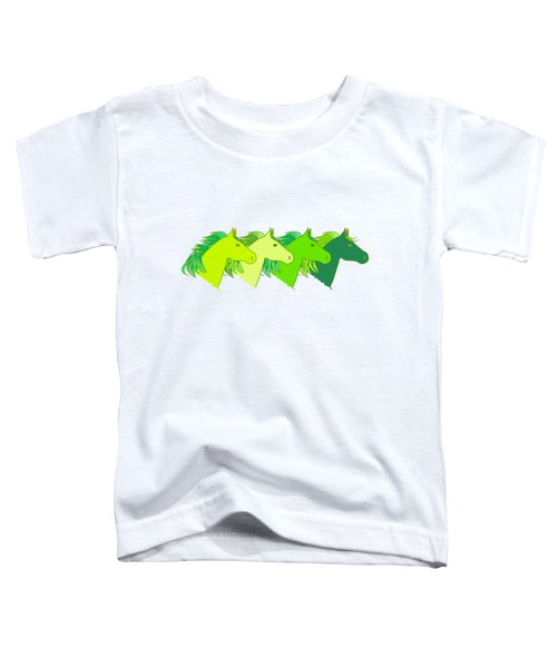 Running Horse Lime Toddler T-Shirt by Alexsan