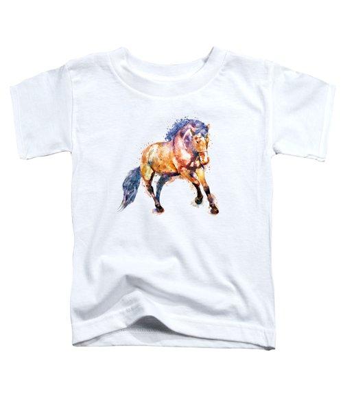 Running Horse Toddler T-Shirt by Marian Voicu