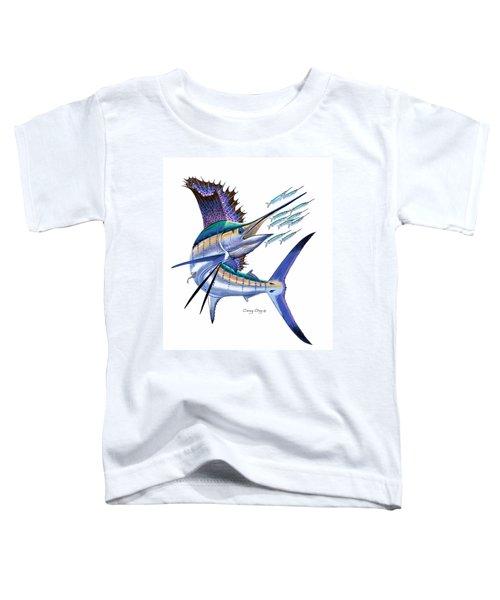 Sailfish Digital Toddler T-Shirt by Carey Chen