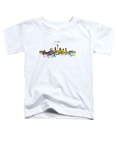 San Antonio Skyline Silhouette Toddler T-Shirt by Marian Voicu