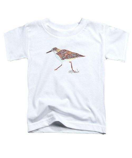 Sandpiper Bird Toddler T-Shirt by Kathleen McElwaine