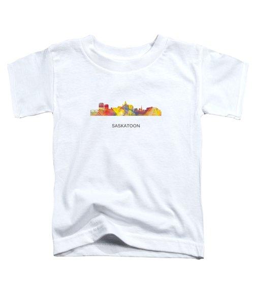 Saskatoon Sask.skyline Toddler T-Shirt by Marlene Watson