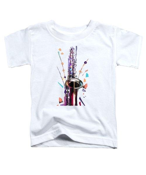 Saxophone Toddler T-Shirt by Melanie D