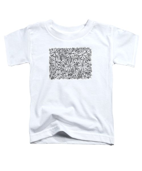 Sea Of Flowers And Seeds At Night Horizontal Toddler T-Shirt by Tamara Kulish