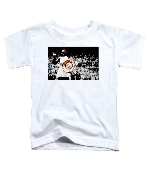 Serena 2016 Wimbledon Victory Toddler T-Shirt by Brian Reaves