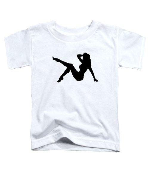 Sexy Trucker Girl Tee Toddler T-Shirt by Edward Fielding