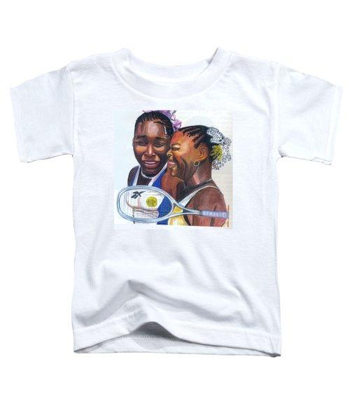 Sisters Williams Toddler T-Shirt by Emmanuel Baliyanga