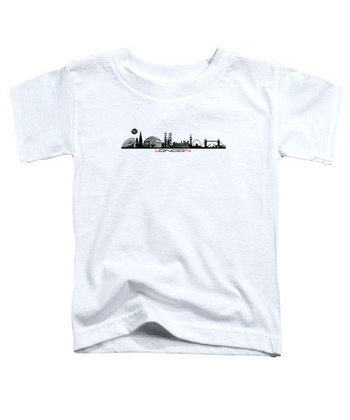 skyline city London black Toddler T-Shirt by Justyna JBJart