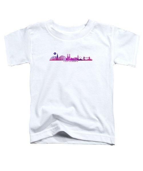skyline city London purple Toddler T-Shirt by Justyna JBJart