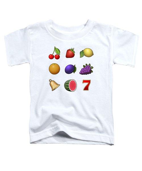 Slot Machine Fruit Symbols Toddler T-Shirt by Miroslav Nemecek