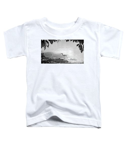 Snowy Egret Toddler T-Shirt by Sandy Taylor